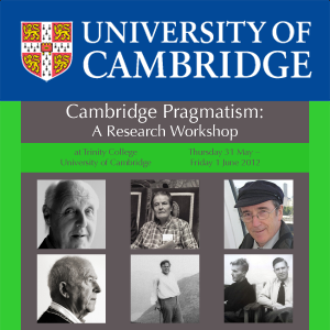 Cambridge Pragmatism: A Research Workshop's image